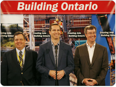 McGuinty Announces More Money for Ont. Infrastructure: $1.1B
